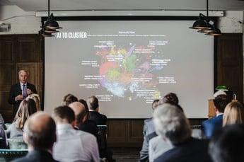 John Miranda from Intel presenting at AI-enabled Tech Foresight Summit Berlin