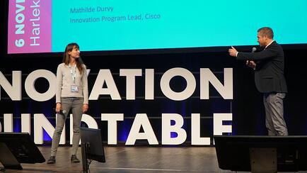 Mathilde Durvy from Cisco at Innovation Roundtable Summit in Copenhagen