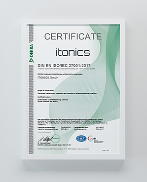 ISO 27001 Certificate Innovation Software