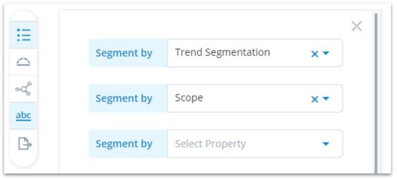 Trend radar segments