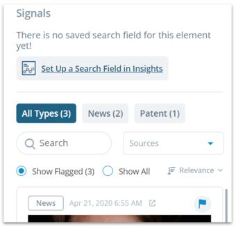 Element - signals