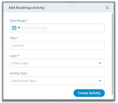 Roadmap - Create an Activity