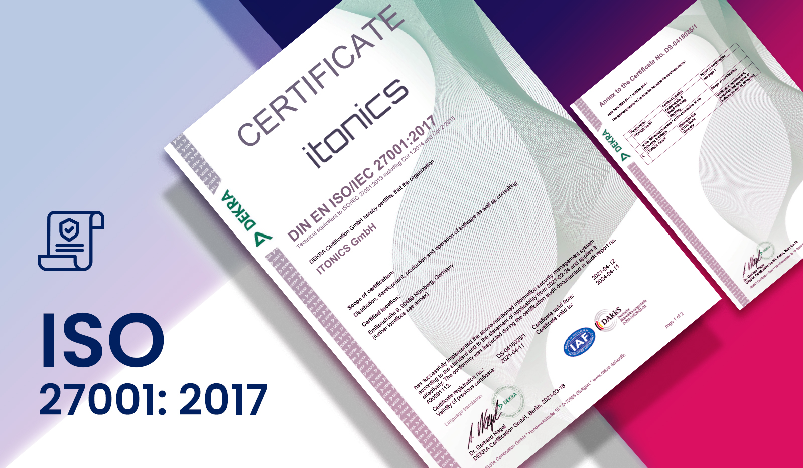 ITONICS is ISO 27001 re-certified