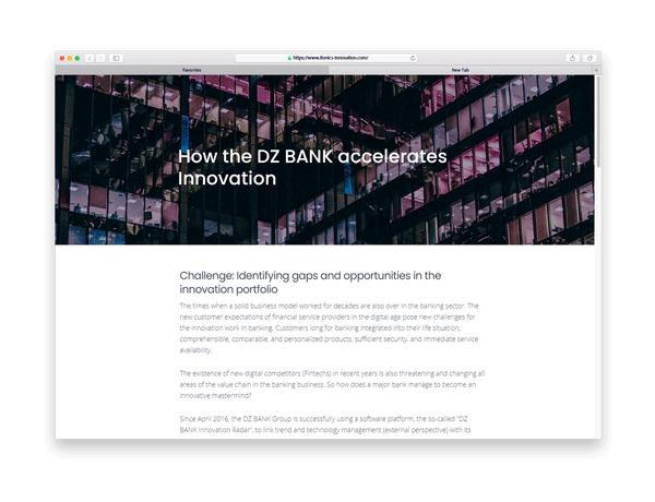 Accelerating Innovation at DZ Bank - Blog Article
