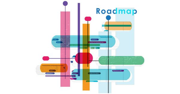 Roadmap Software Illustration
